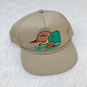 Vintage 90's Cali Duck Trucker Hat Khaki Color